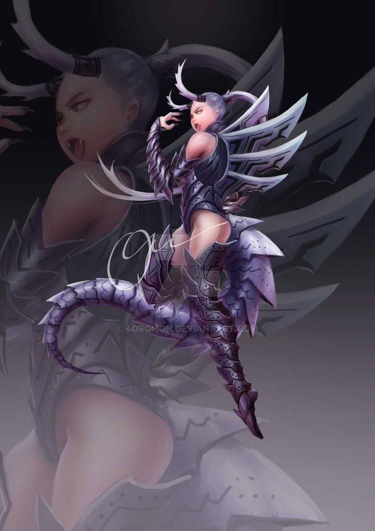 [sold] - Adoptable - Demon Blade