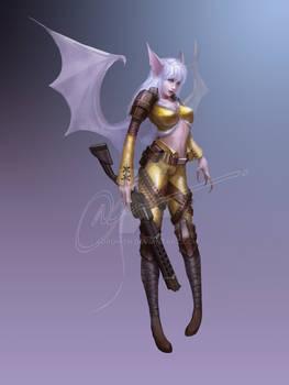 [Sold] adoptable - bat gunner girl