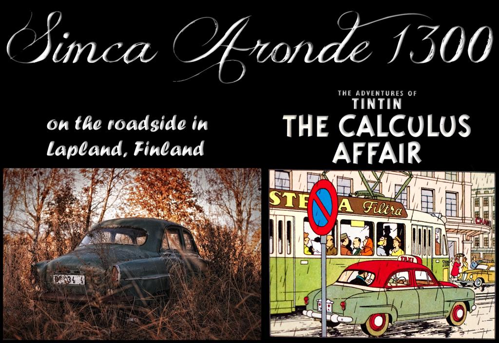 Simca Aronde - Tintin - the Calculus Affair by wchild