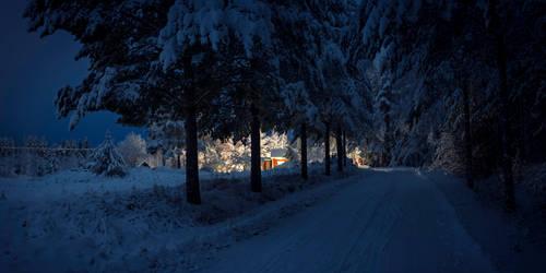 December night in Finland