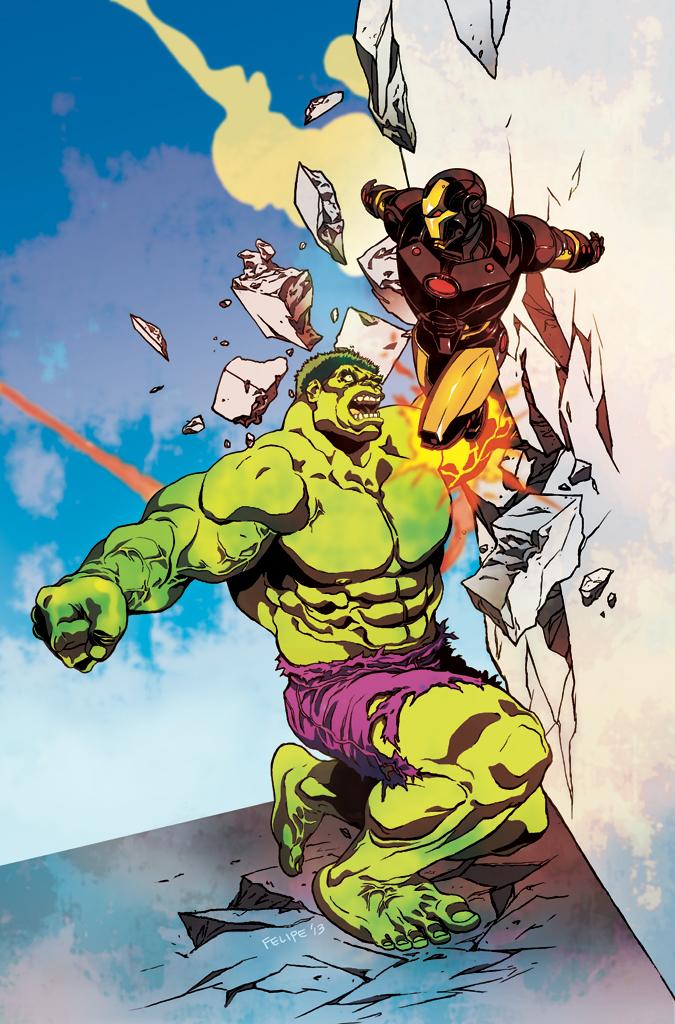 HULK vs. Iron Man by FelipeSmith