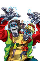 Bill and Ted's Most Triumphant Return # 3 Cover by FelipeSmith