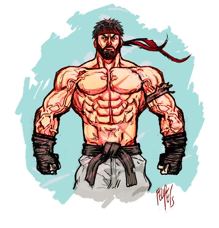 Street Fighter V: Bearded Ryu! by FelipeSmith