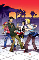Bill and Ted's Most Triumphant Return # 4 Cover by FelipeSmith