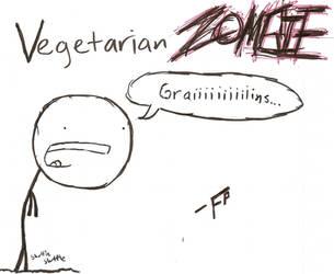 Vegetarian Zombie by FalseProphecy
