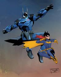THE GODDAMN BATMAN - James Gordon and BATGIRL by DiegoOlortegui