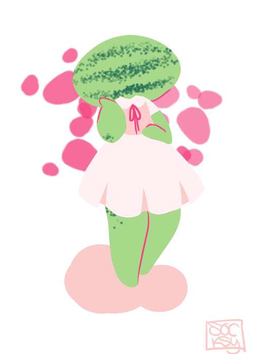 Palette meme: Watermelongirl by socksyy