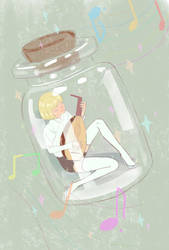 music boy in the bottled