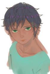 green eyes boy