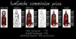 COMMISSION PRICE LIST [open]