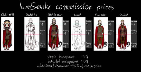 COMMISSION PRICE LIST [open] by PrismoTheSmoke