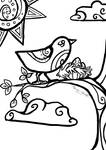 The Bird- FREE COLORING PAGE
