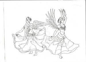 Winged Bellydancers