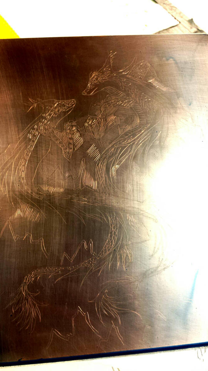 WIP Copper Plate 1 by Umiame