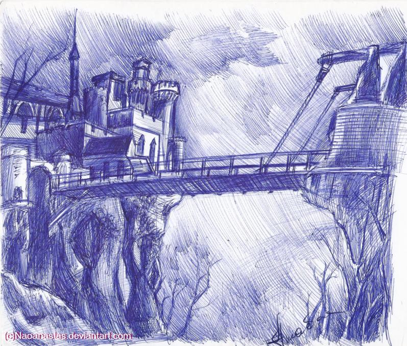 Salazar's castle using blue pen(again) by Naoanastas