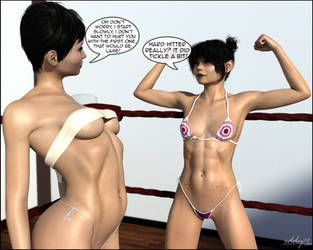 Lydia and Amy training day - Scene 8 by eddy79