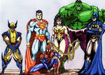 Marvel vs DC icons