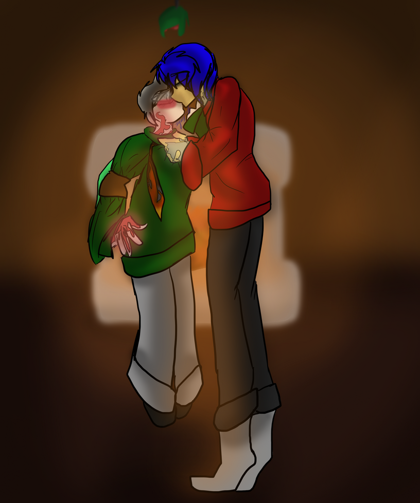 kiss me babe, it's christmas time ((EmeraldMiner)) by slycooper11