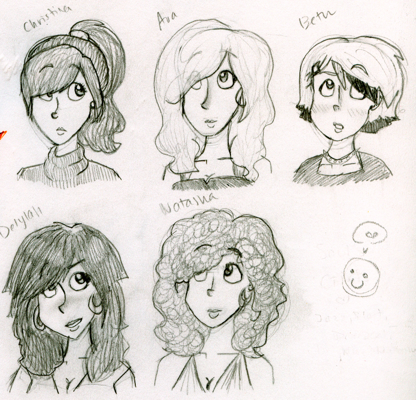 Soul's Girls Character Designs by bubblyM
