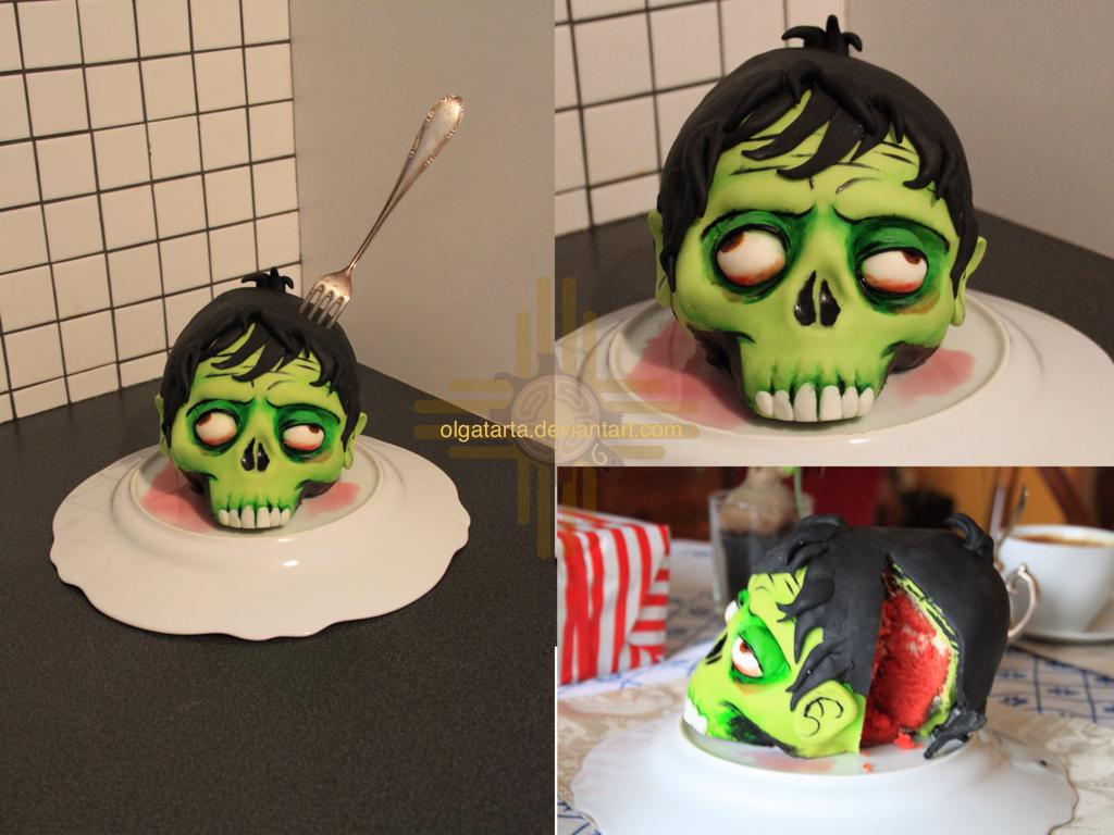 Zombie head - CAKE by olgatarta