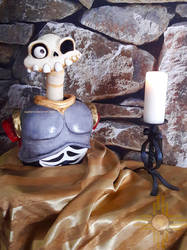 MediEvil - Sir Daniel Fortesque Cake by olgatarta