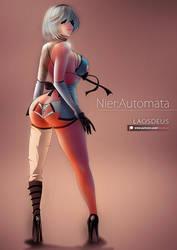 S2 - Nier:Automata Fanart (final) by LaosDeus