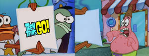 Patrick Stars reaction to Teen Titans Go!