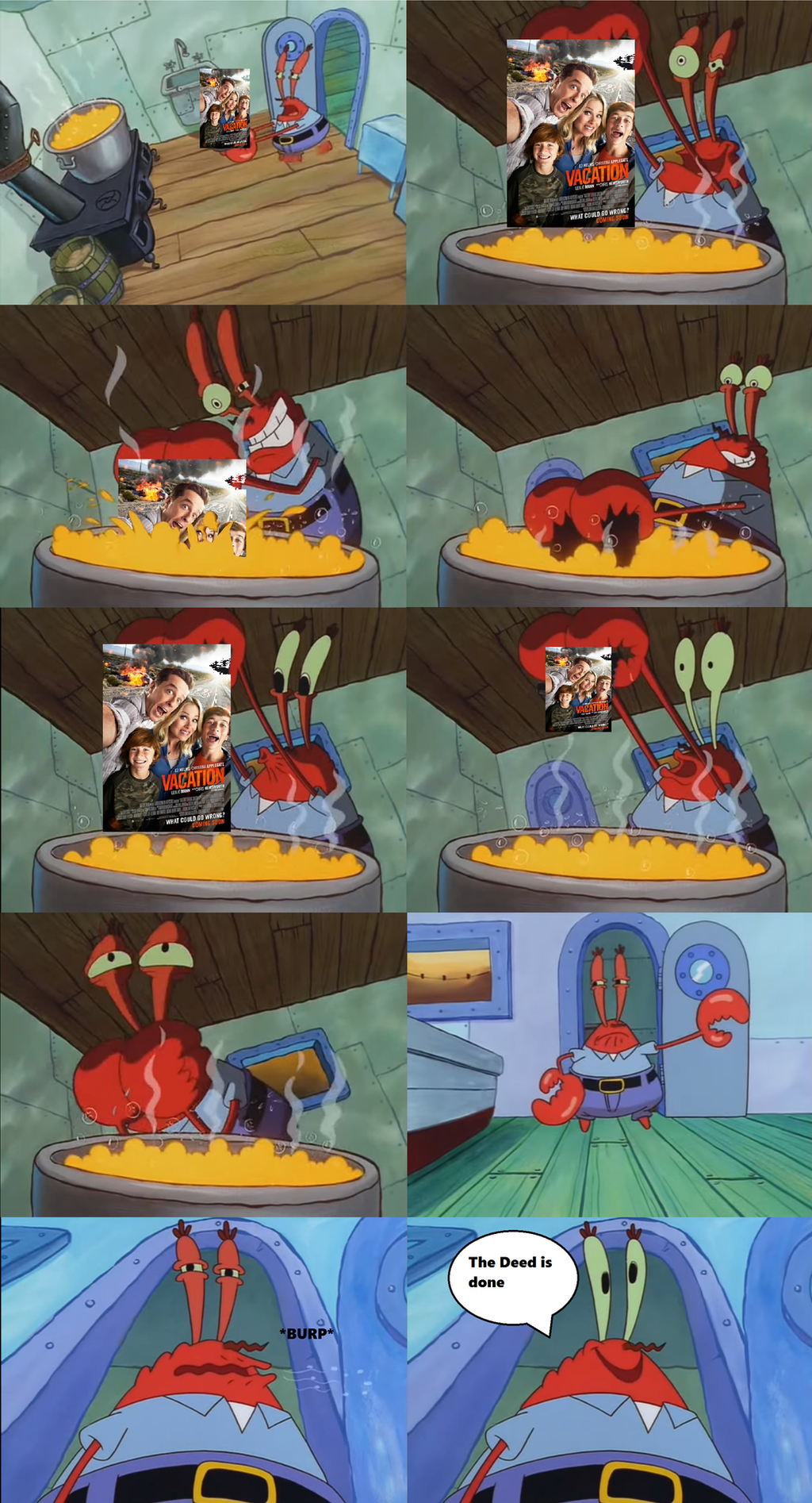 mr krabs reaction to vacation 2015 by cyothelion on deviantart