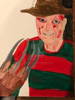 Freddy Krueger paint work 1