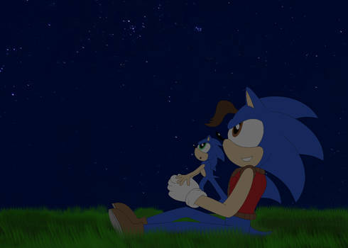 Jules and Sonic stargazing