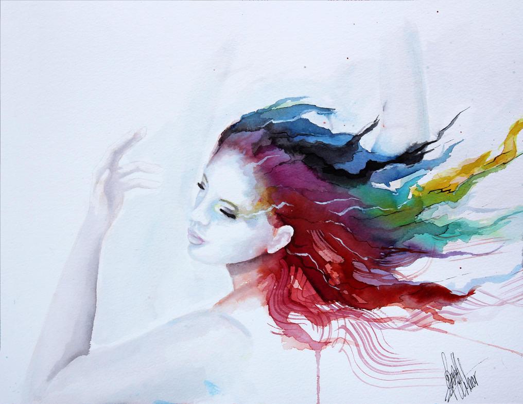 Image Aquarelle dessin et peinture - vidéo 917 : la danseuse à l'aquarelle. - le