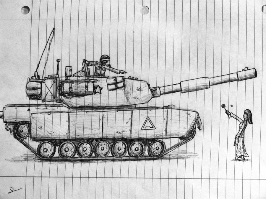 Cliche pacifism sketch type image by j meister