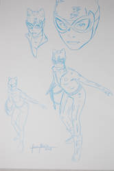 CATWOMAN COVER AT SKETCH by julionieto