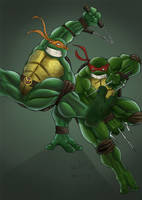 mikey n raph coloured by TruZe