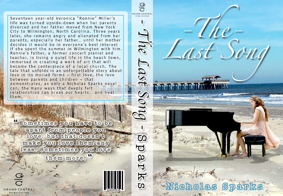 the last song by nicholas sparks book report The last song by: nicholas sparks characters ronnie miller steve miller jonah miller will blakelee blaze marcus setting the setting of this book took place in.