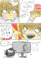 Death Note: Potato Chip by Harnikawa