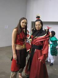 Fire Lord Ozai and Katara