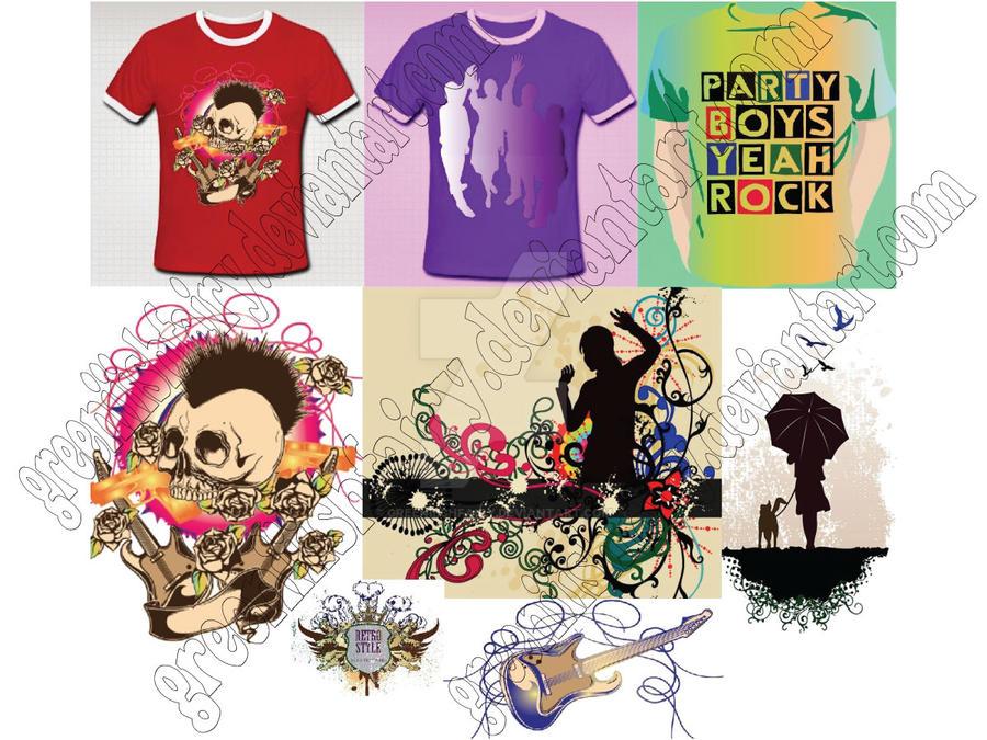 T-Shirt Designs by Greeniiishfairy