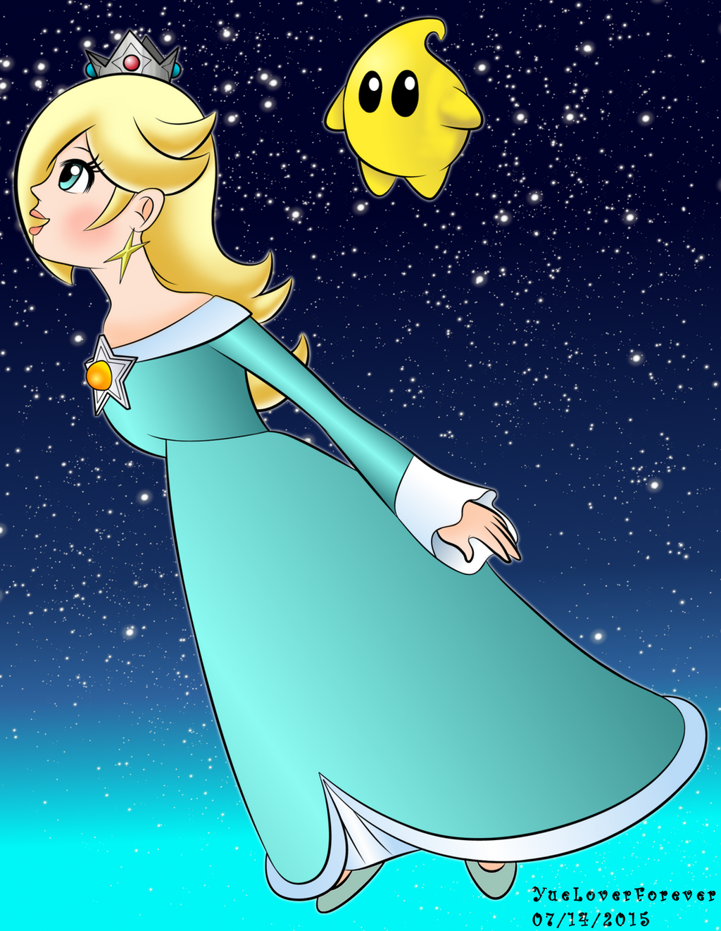 Rosalina and Luma by YueLoverForever