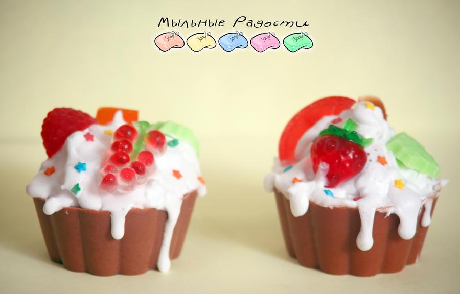 Soap: chocolate cupcake by Mergata
