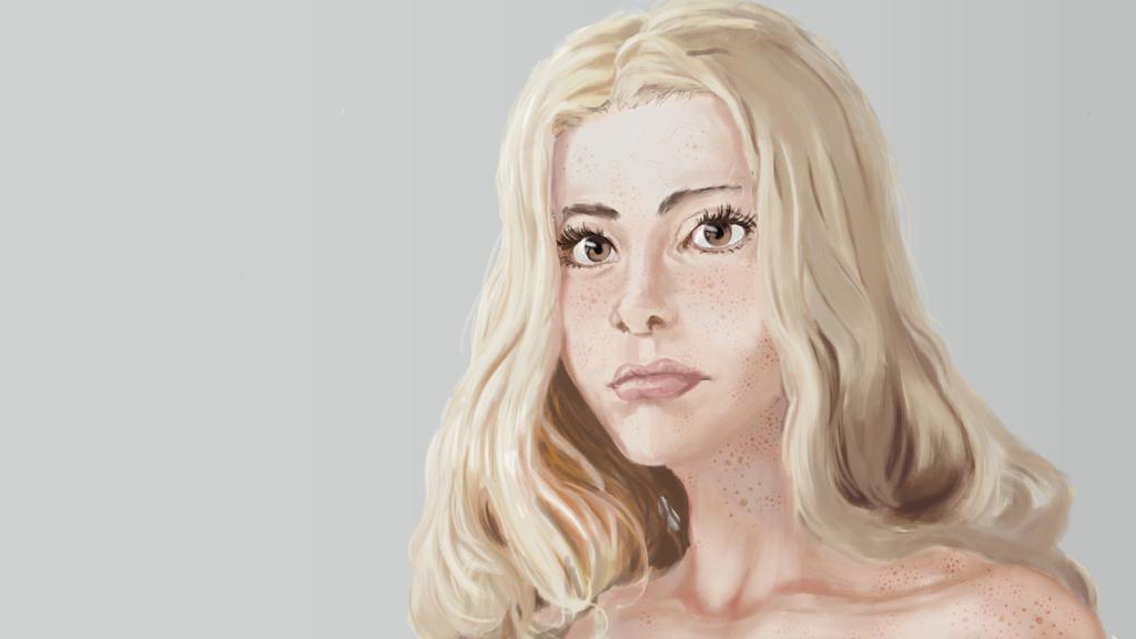 Portrait: Gentle blonde by sirMizer