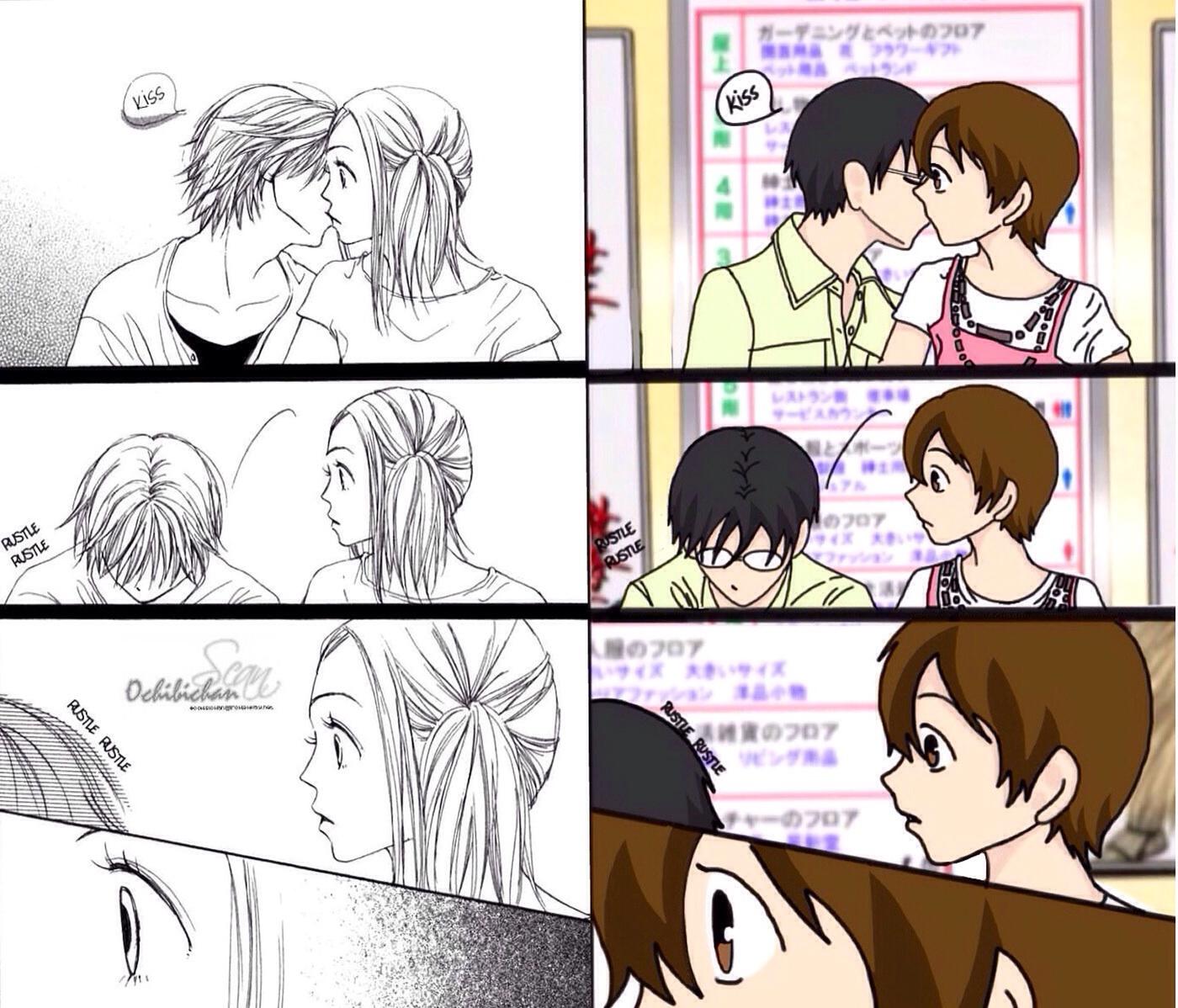 KyoyaXHaruhi-Comic Copy Kiss Comparison by SisterStories