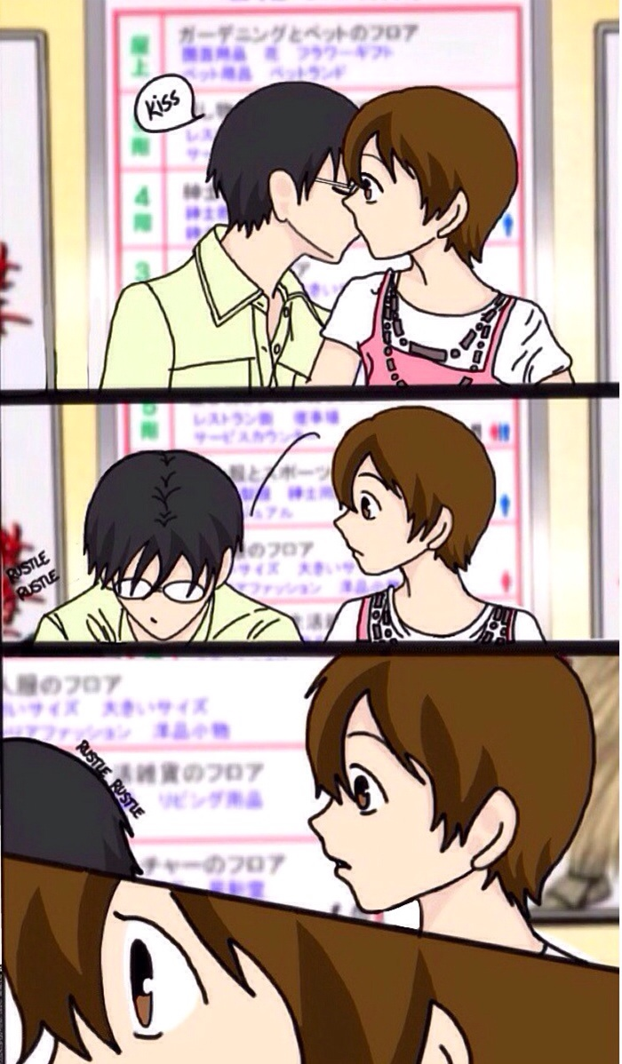KyoyaXHaruhi-Comic Copy Kiss by SisterStories