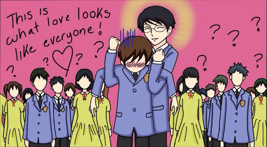 KyoyaXHaruhi-Love Hug (Kyoya Style) by SisterStories