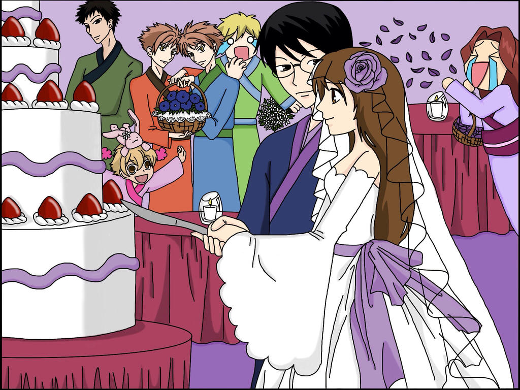 KyoyaXHaruhi-Wedding Cake by SisterStories