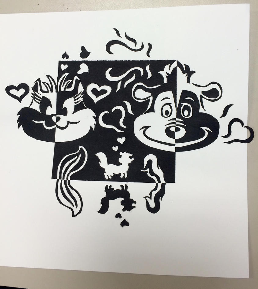 Pepe Le Pew Notan Valentine Design by SisterStories