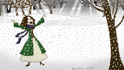 Girl in Snow by SisterStories