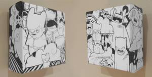 2 mini canvases