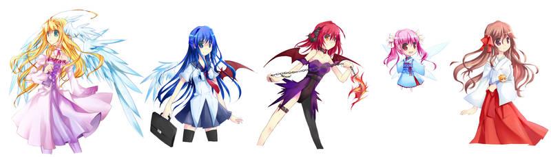 Tenshi-Oni Characters