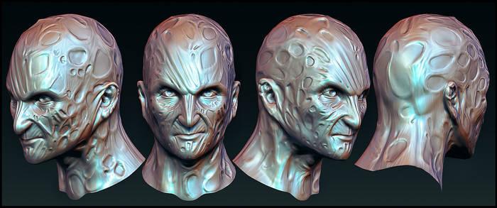 Freddy Krueger Head Sculpt